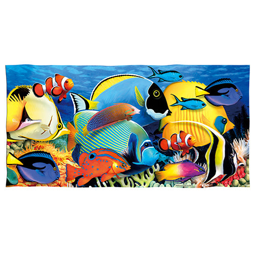 Coral Reef Tropical Fish Beach and Shower Towel