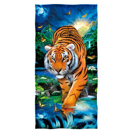 Moonlight Tiger Beach and Shower Towel