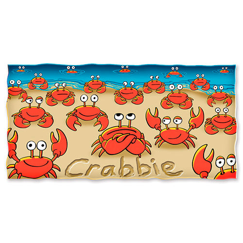 Crabbie Beach and Shower Towel