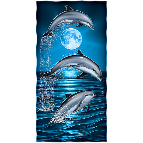 Dolphins Beach and Shower Towel