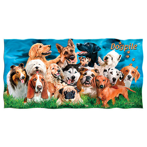 Dogs Beach and Shower Towel