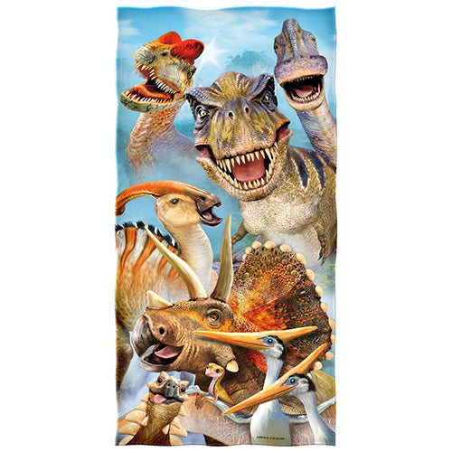 Dinosaur Selfie Beach and Shower Towel