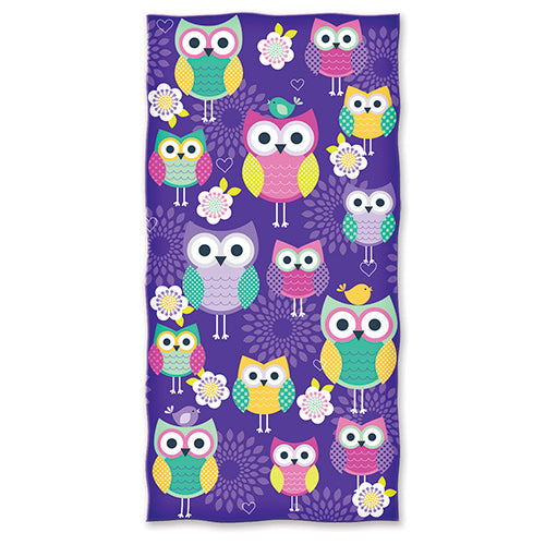 Owls Beach and Shower Towel