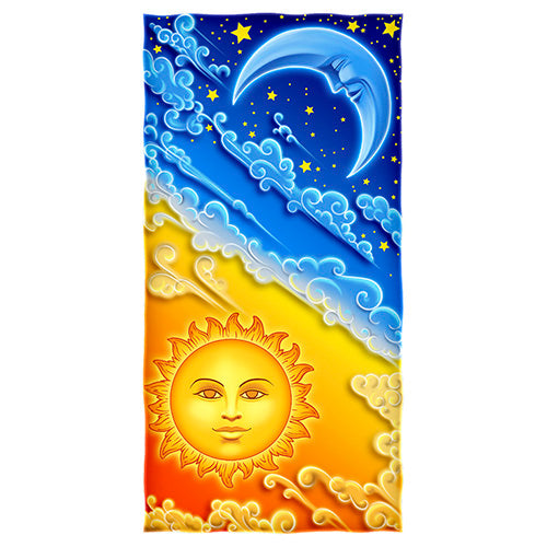 Sun and Moon Beach and Shower Towel