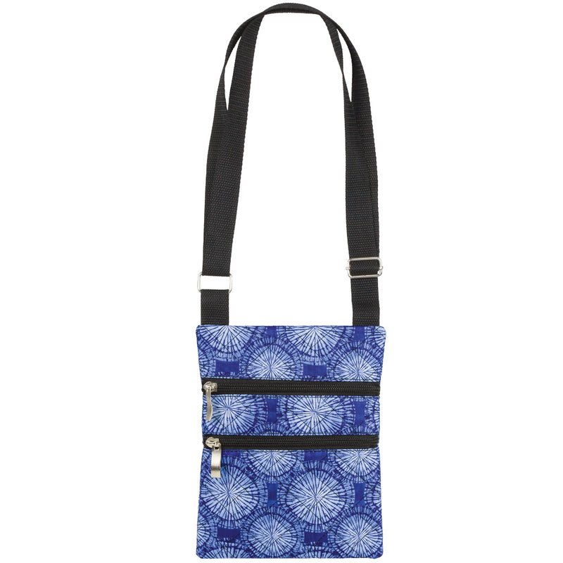 Tie-Dye Medallions Quilted Cross Body Bag with Adjustable Strap