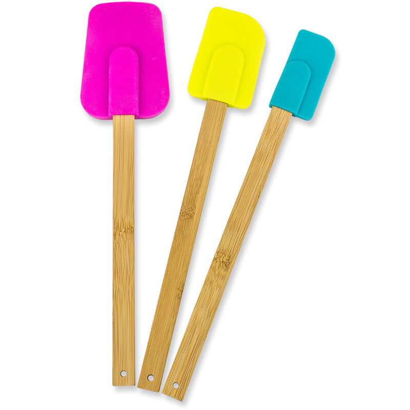 Bamboo & Silicone Spatulas (Set of 3)