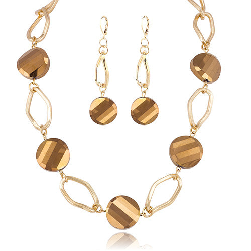 Artistic Copper Necklace and Earring Set