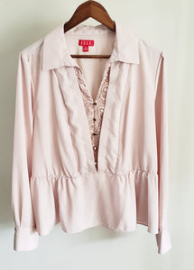 CLEARANCE Elle Nude Blouse - (Un)Popular Fashion Society