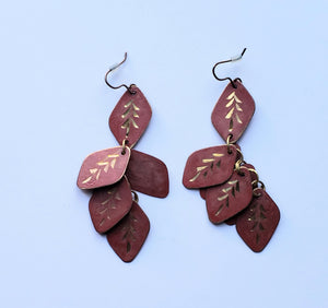 Red and Gold Earrings - (Un)Popular Fashion Society