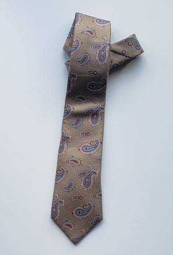 Grey Paisley Necktie - (Un)Popular Fashion Society