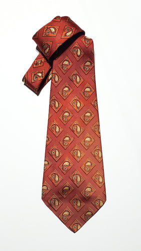 Orange Paisley Necktie - (Un)Popular Fashion Society