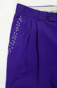 Refashioned Purple Beaded Pants - (Un)Popular Fashion Society