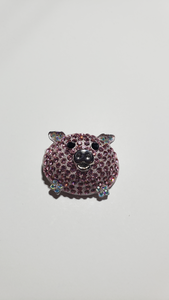 Rhinestone Pig Brooch - (Un)Popular Fashion Society
