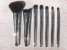 Load image into Gallery viewer, Sophisticated Silver 7 Piece Makeup Brush Set