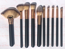 Load image into Gallery viewer, Noir Royalty 10 Piece Makeup Brush Set
