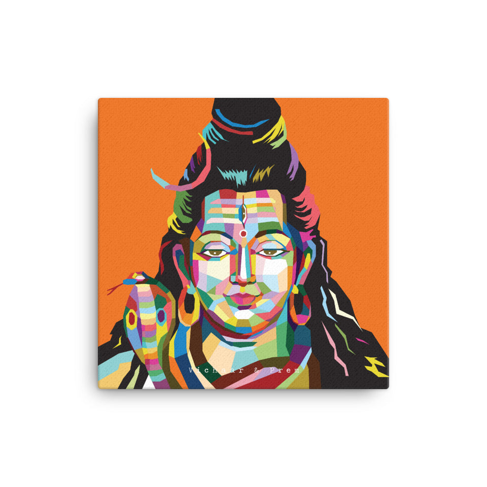 Shiva Pop Art Canvas Print