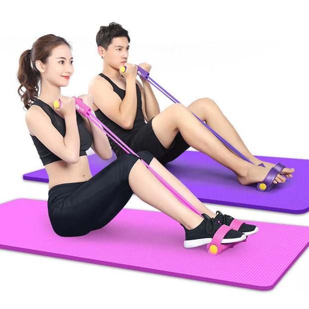 Fitness Gum 4 Tube Pedal Resistance Bands