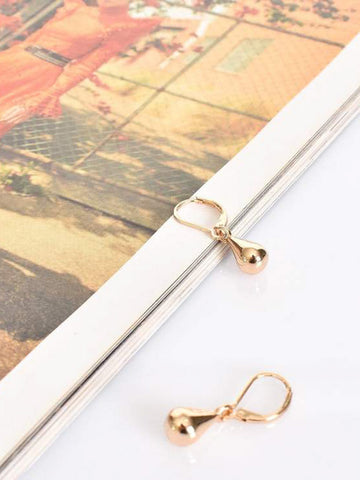 French hook small teardrop earrings gold