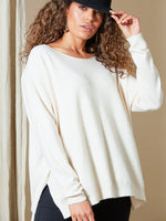 Clarity Knit Womens Sweater Creme