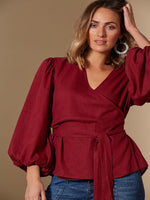 Solace Rose Linen Blend Crossover Top