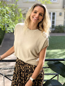 Frankie's Melbourne | lurex champagne knit top
