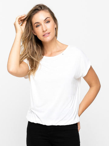 Buddhawear | Lovia White Elasticised T-shirt