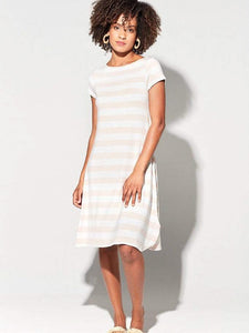 Lou Lou Australia Cher Dress Pink and Marle Easy Bamboo dress
