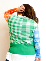 Frankie's Melbourne | Gingham Multi Colour Cardigan