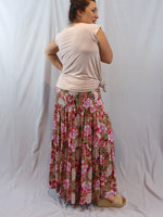 Ebby and I Alyssa Bloom Pink Tiered Skirt Back
