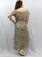 Sanctum the label Adventurer Off  Womens the shoulder dress green red yellow blue flowers