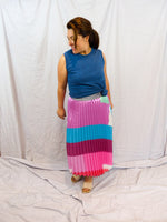Frankie's Melbourne | Block Pink Pleated Skirt