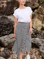 Joanna asymetrical black and white skirt