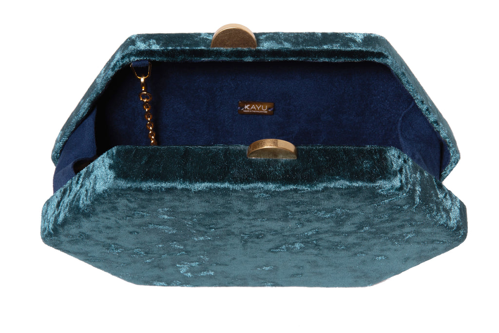 Sloane Velvet Clutch Bag