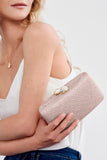 Jen clutch with white Stone