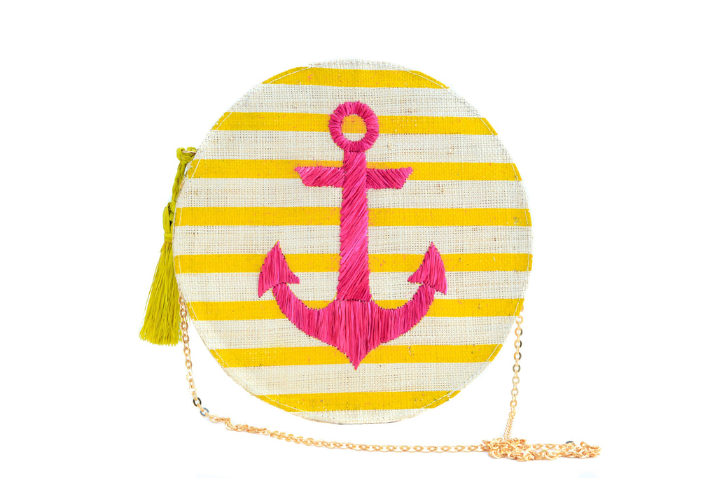 Yellow Stripes / Pink Anchor