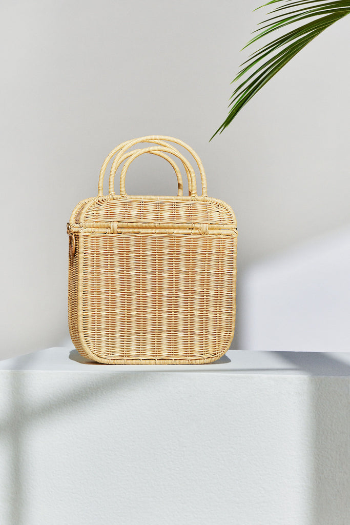Onie Wicker Top-Handle Bag