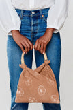 Mini Mae Cotton Rattan Top Handle Bag