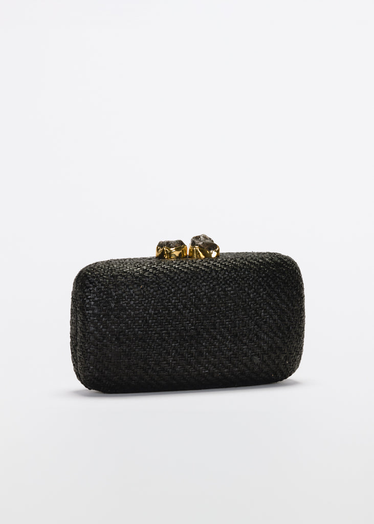 Anna Straw Clutch Bag