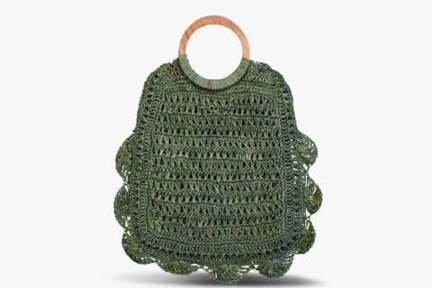 Binah Crocheted Straw Tote
