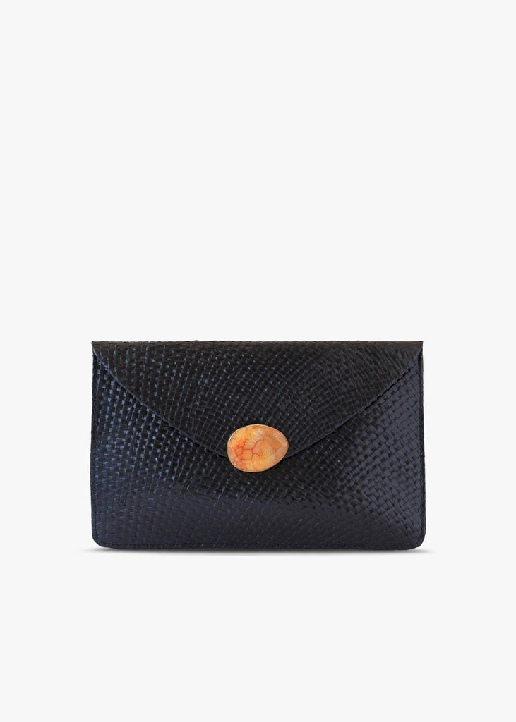 Capri Straw Envelope Clutch Bag