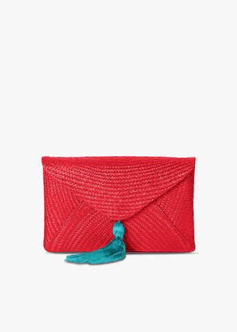 Cassia Straw Clutch Bag