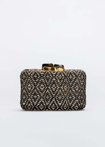 Cleo Straw Clutch Bag