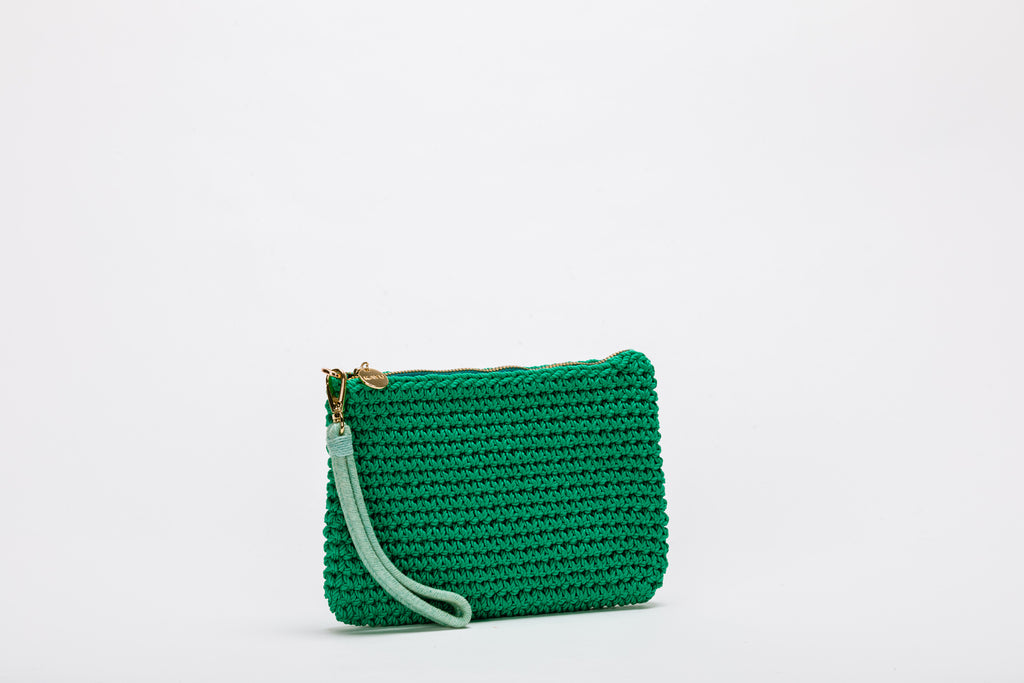 Henri Cotton-Cord Wristlet Pouch Bag