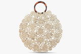 Hollie Straw-Lace Handbag