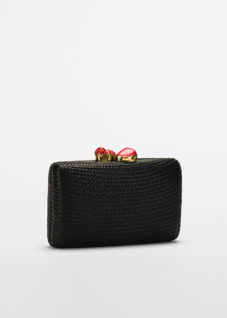 Jen clutch with red stone