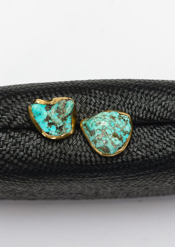 Jen clutch with turquoise stone