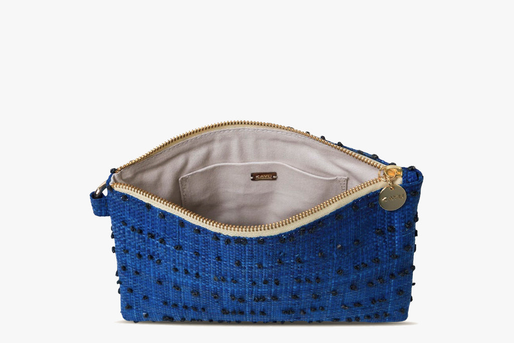 June Raffia Wristlet Pouch Bag