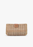 Kaine Wicker Straw Clutch Bag