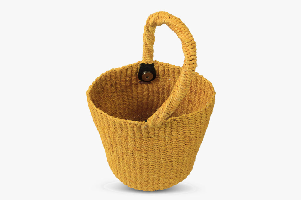 Marlee Woven Straw Bucket Bag