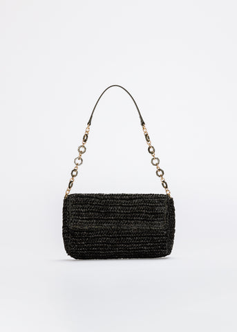 Marni Woven Straw Baguette Bag
